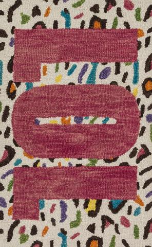 Image of Cheetah and Pink Rug