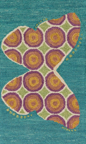 Loloi Rugs - Teal and Berry Rug - HSK13 TEAL / BERRY