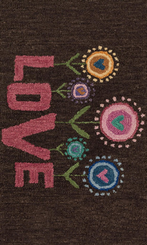 Image of Brown and Pink Rug