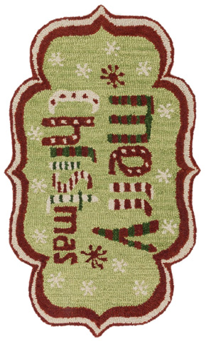 Image of Green and Red Rug