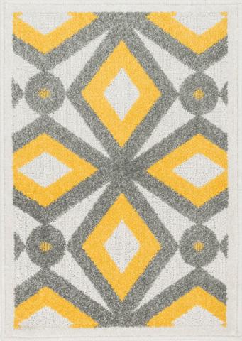 Image of Grey and Lemon Rug