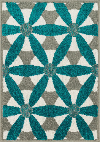 Image of Grey and Teal Rug