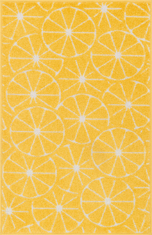 Image of Yellow and Ivory Rug