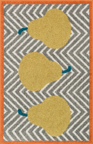 Image of Grey and Green Rug