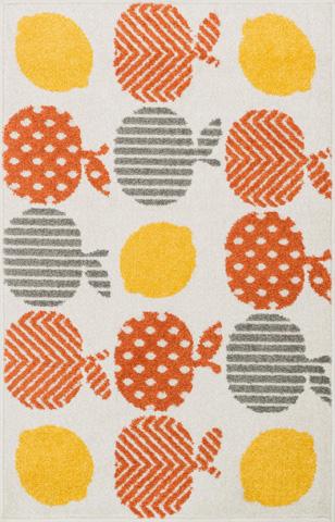 Image of Orange and Multi Rug