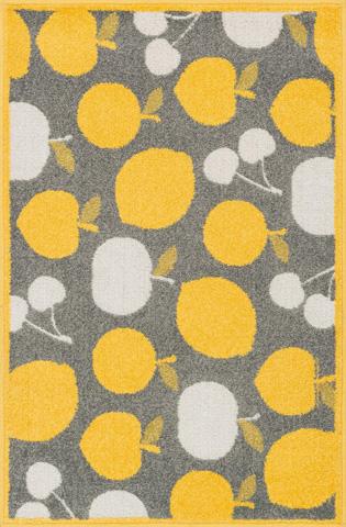 Image of Grey and Yellow Rug