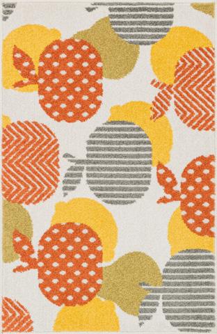 Image of Ivory and Orange Rug