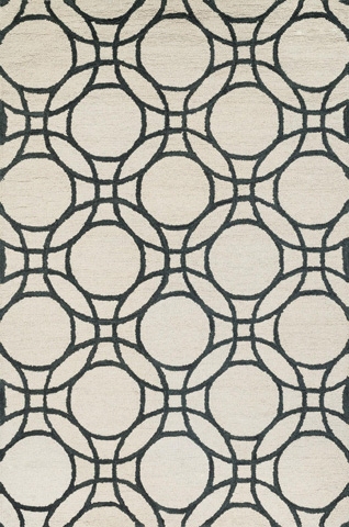 Loloi Rugs - Ivory and Black Rug - HTY08 IVORY / BLACK