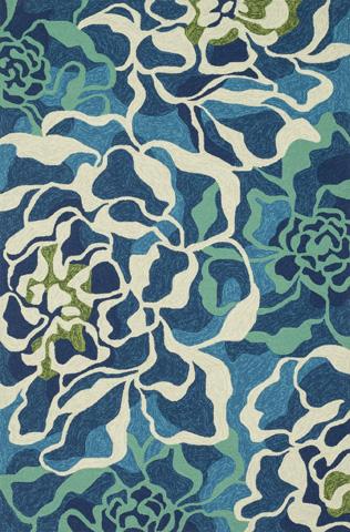 Image of Aqua and Multi Rug