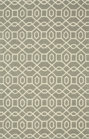 Loloi Rugs - Grey and Ivory Rug - HVT06 GREY / IVORY