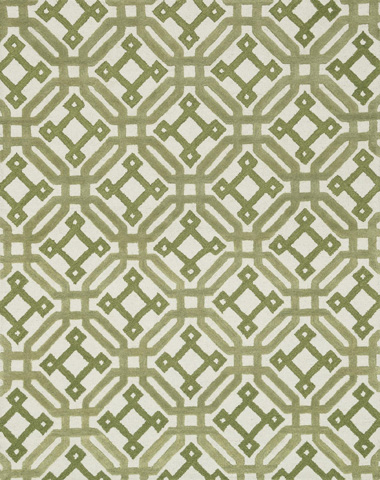 Image of Ivory and Green Rug
