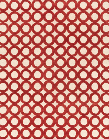 Loloi Rugs - Ivory and Red Rug - HWS08 IVORY / RED