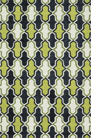 Image of Lime and Charcoal Rug