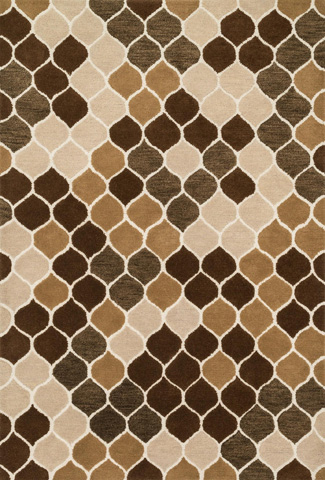 Image of Neutral and Brown Rug