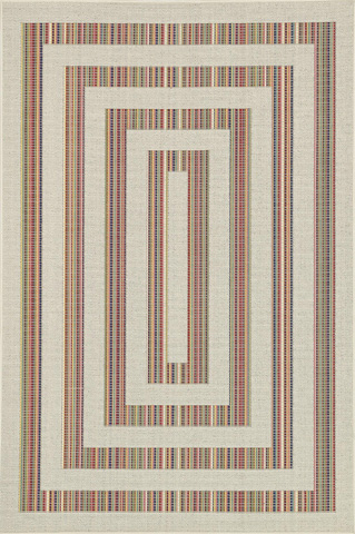 Loloi Rugs - Ivory and Multi Rug - IB-02 IVORY / MULTI