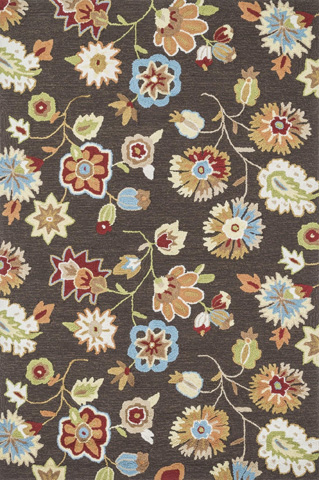 Image of Brown and Floral Rug