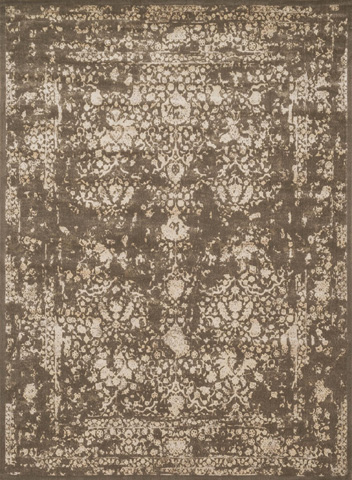 Image of Dark Taupe and Ivory Rug