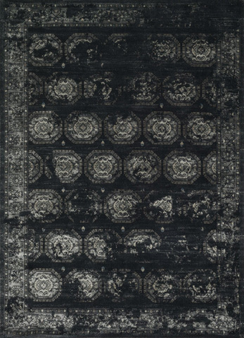 Image of Black and Charcoal Rug