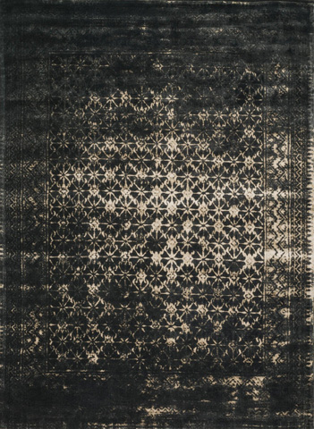 Image of Black and Tan Rug