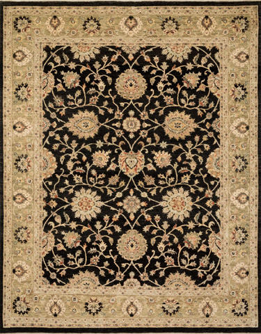 Image of Black and Ivory Rug
