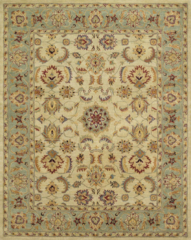 Image of Beige and Green Rug