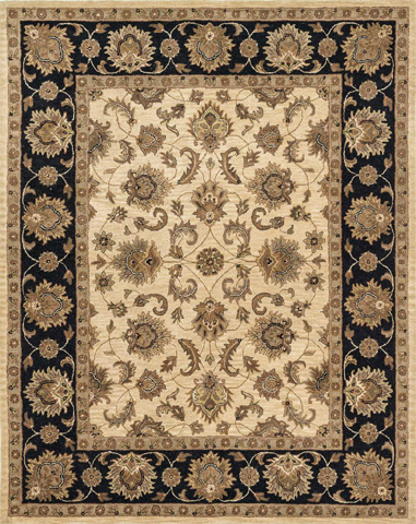 Image of Beige and Black Rug