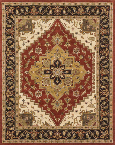 Loloi Rugs - Rust and Chocolate Rug - MP-39 RUST / CHOCOLATE