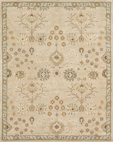 Image of Beige and Blue Rug