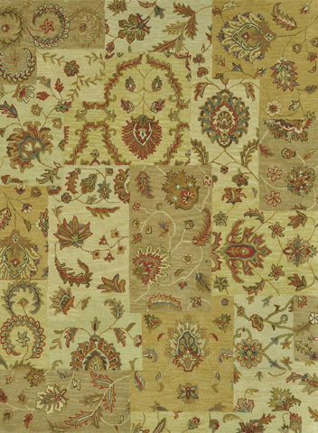 Image of Light Gold and Multi Rug