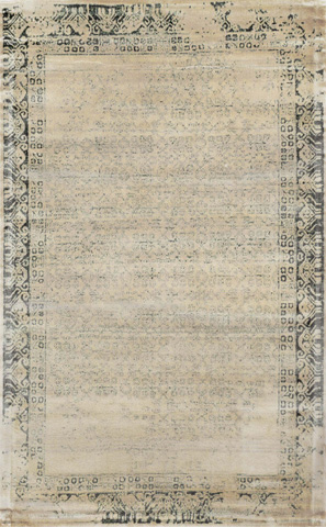 Image of Ivory and Charcoal Rug