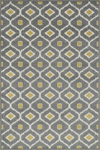 Image of Grey and Citron Rug