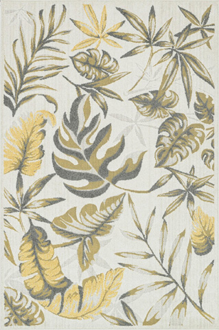 Image of Ivory and Citron Rug