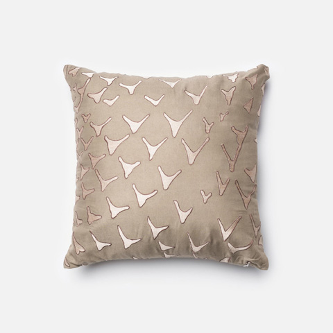 Loloi Rugs - Taupe Pillow - P0033 TAUPE