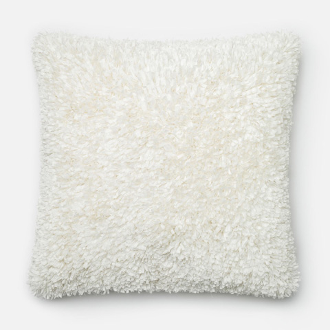 Loloi Rugs - Bright and White Pillow - P0045 BRIGHT / WHITE