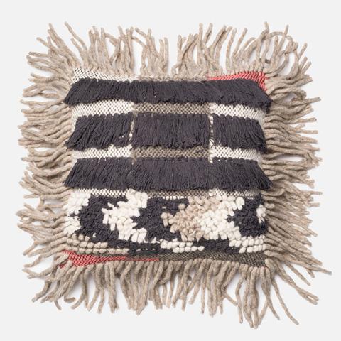 Loloi Rugs - Grey and Multi Pillow - P0093 GREY / MULTI