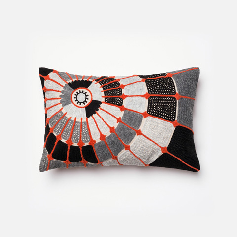 Image of Grey and Orange Pillow