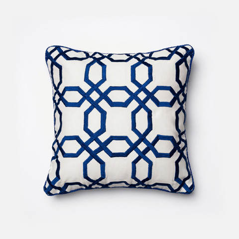 Image of Blue and White Pillow