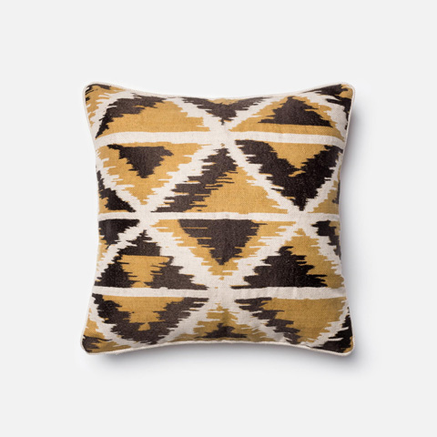Loloi Rugs - Gold and Multi Pillow - P0140 GOLD / MULTI
