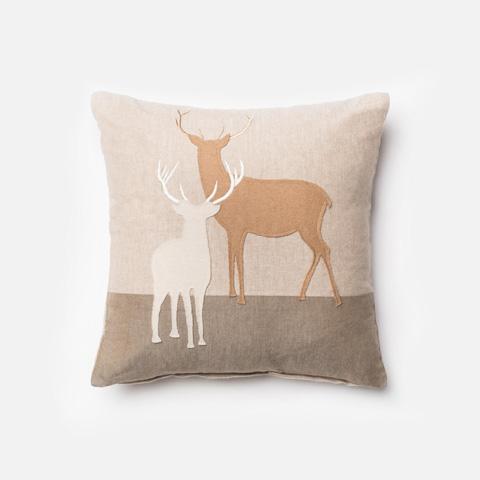 Loloi Rugs - Beige and Multi Pillow - P0151 BEIGE / MULTI