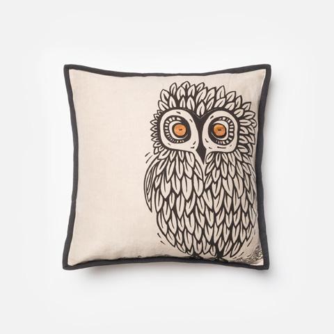 Loloi Rugs - Natural and Black Pillow - P0158 NATURAL / BLACK
