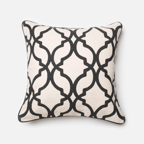 Image of Ivory and Charcoal Pillow