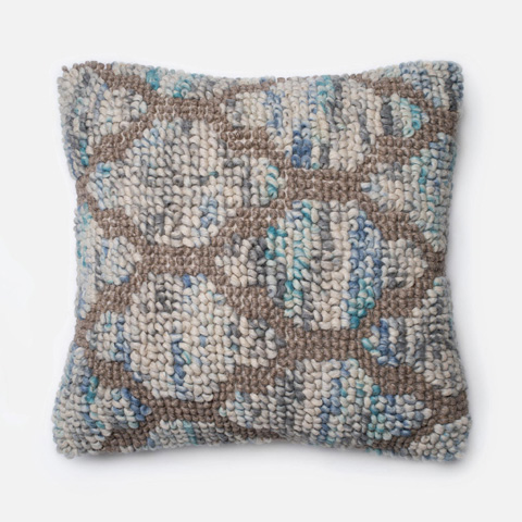 Loloi Rugs - Blue and Natural Pillow - P0190 BLUE / NATURAL