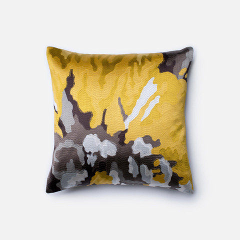 Loloi Rugs - Yellow and Grey Pillow - P0205 YELLOW / GREY