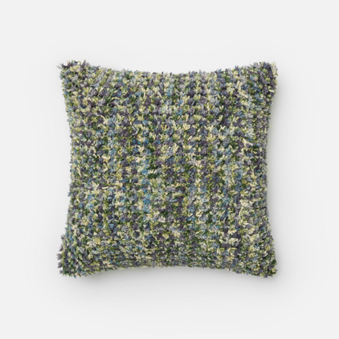 Loloi Rugs - Green and Plum Pillow - P0222 GREEN / PLUM