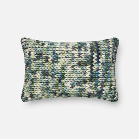 Loloi Rugs - Green and Blue Pillow - P0223 GREEN / BLUE