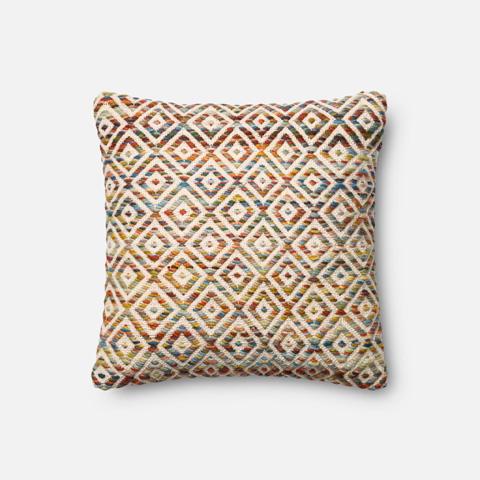Loloi Rugs - Orange and Multi Pillow - P0225 ORANGE / MULTI