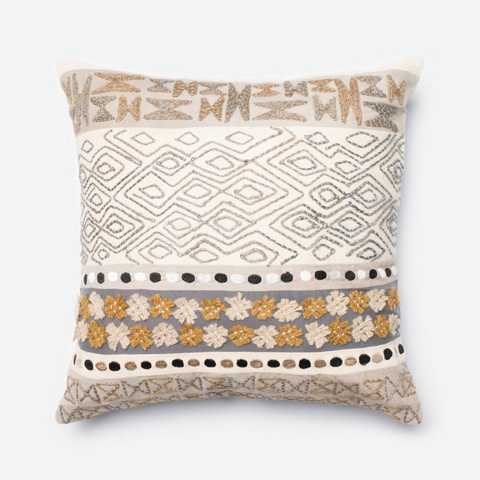 Image of Beige and Grey Pillow