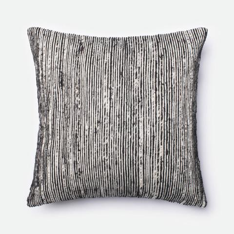 Loloi Rugs - Black and Multi Pillow - P0242 BLACK / MULTI