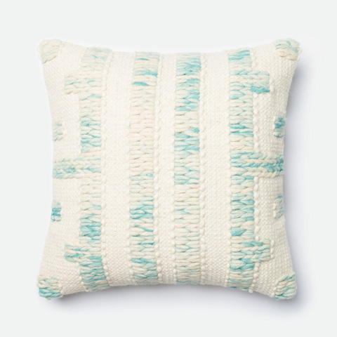 Loloi Rugs - Blue and Ivory Pillow - P0251 BLUE / IVORY