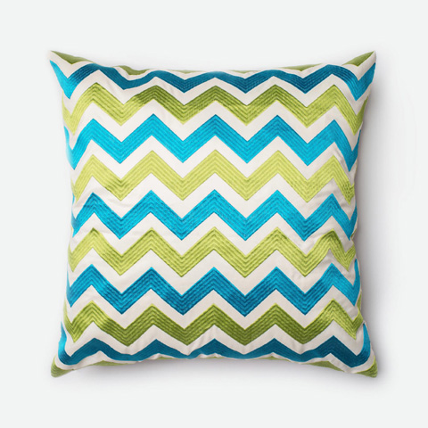 Loloi Rugs - Green and Blue Pillow - P0256 GREEN / BLUE